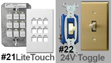 24V Toggle Switches