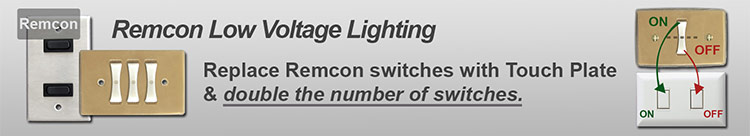 Remcon Low Voltage Switches, Relays, Switch Plates - Replacement Parts