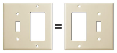 Rotate switchplate for opposite layout