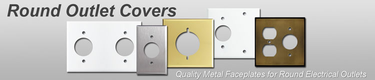 Single Receptacle Outlet Cover Plates