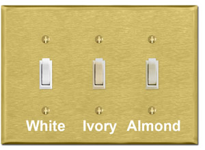 Brushed Brass Wallplates
