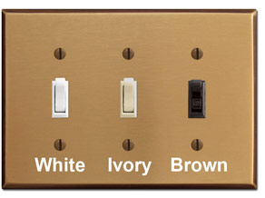 Satin Bronze Wallplates