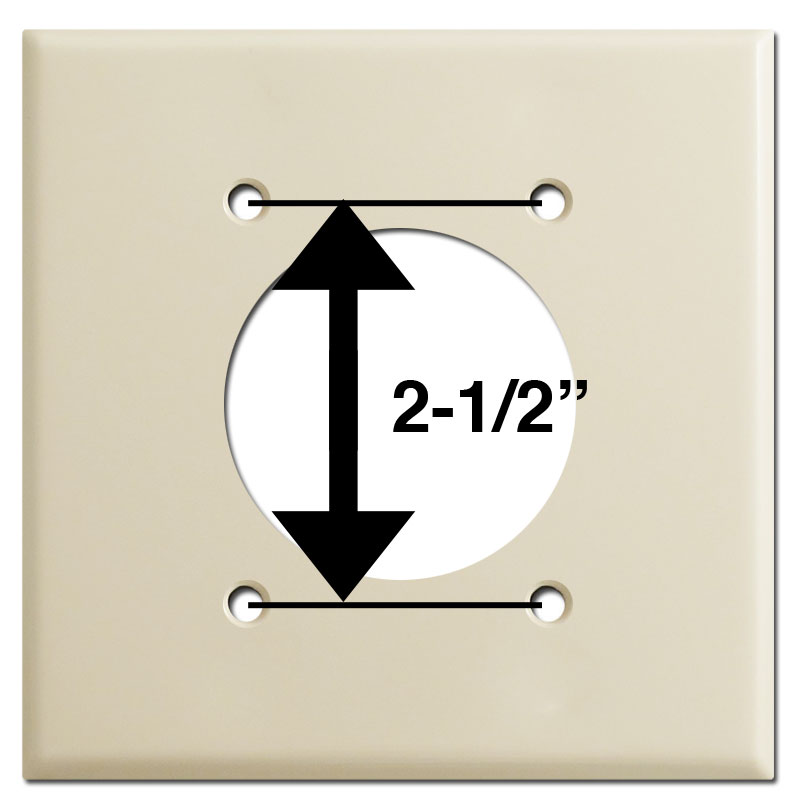Screw placement on 2-gang dryer or range power outlet cover