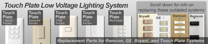 Low Voltage Touch Plate Switch Plates & Switches