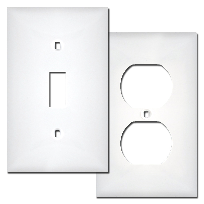 Buy plastic switch plates and outlet covers 1 - 4 gang