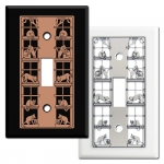 Cat's Life Metal Wall Switch Plates