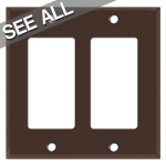 Brown Decora Rocker Switch Plates