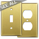 Satin Brass Wall Plates - Best Selling Sizes