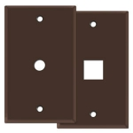 Brown Phone & Cable Jack Wall Switch Plates