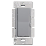 Gray Lutron Rocker Switches with Preset Dimmer Lever