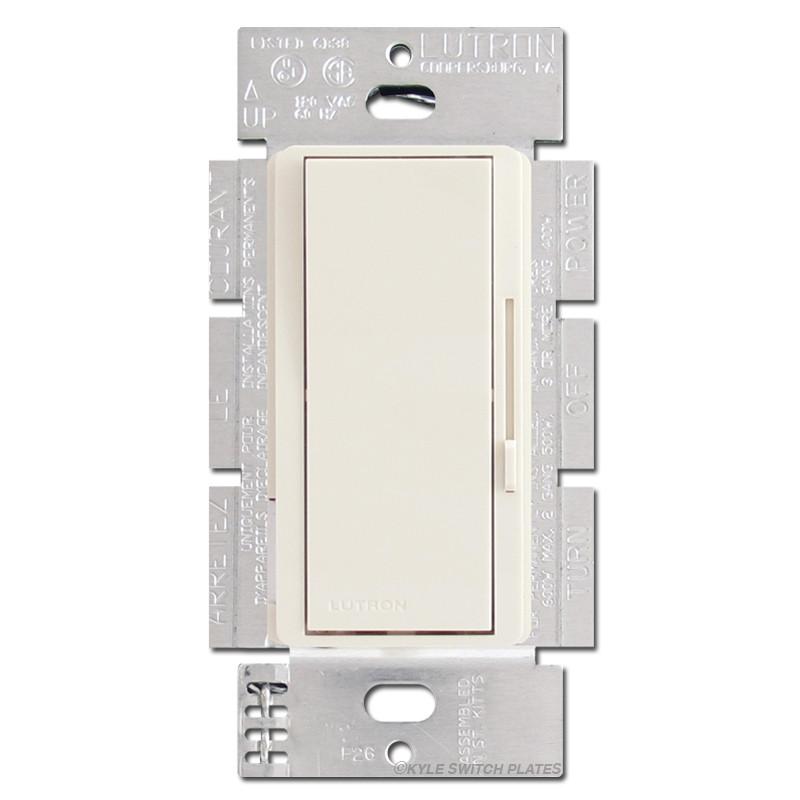 Light almond dimmer rocker switch preset lever soft for Decora light switches