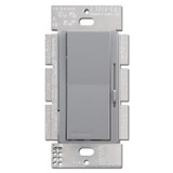 Gray Lutron 3-Way Rocker Switch, Preset Dimming Lever