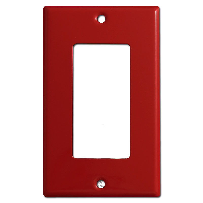 Single Decora Rocker Light Switch Plates Red on electrical outlets and switch plates