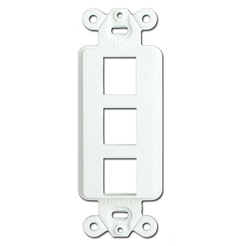 white 3 port frames for hubbell modular jack adapters