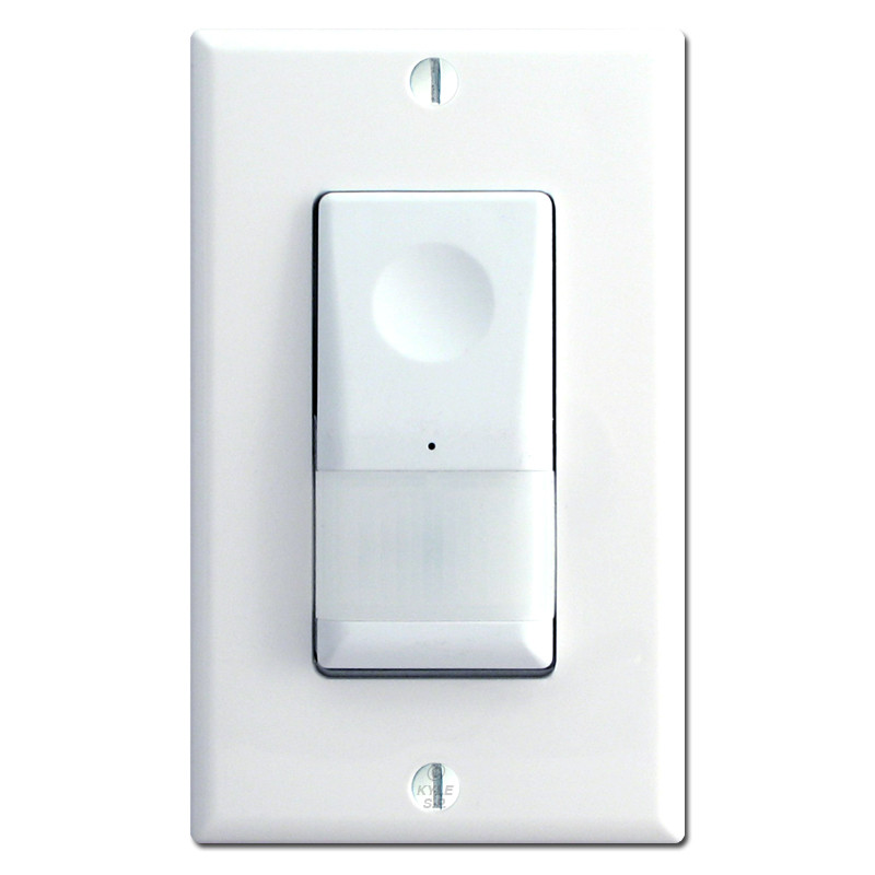 light switches white motion sensing light with auto off timer mcbwv. Black Bedroom Furniture Sets. Home Design Ideas