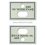 Wall Plate Straps to Mount Decorator Switch Covers in Electrical Boxes