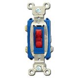 Red Pilot Light Toggle Switch - Lighted When ON