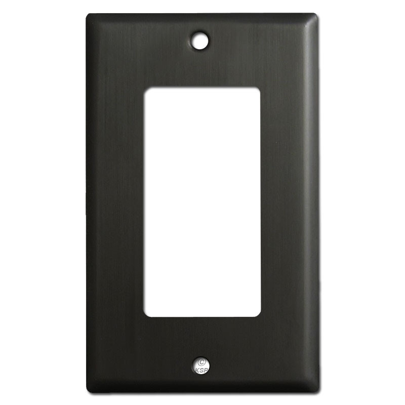 1 Rocker Light Switch Covers Dark Bronze Kyle Switch