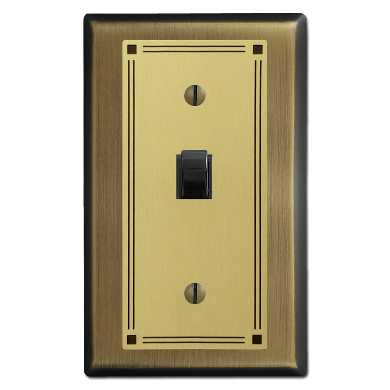toggle switch lock plate for decorative light switch. Black Bedroom Furniture Sets. Home Design Ideas