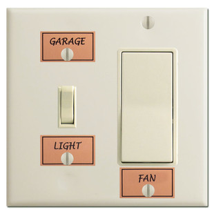 Engraved Labels for Light Switches