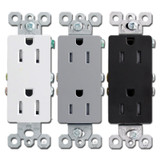 Tamper Resistant 15-Amp Rectangular Decor Outlets