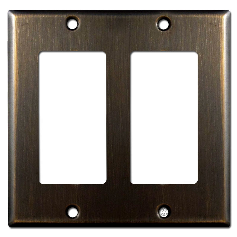 2 Decora Switch Plate Oil Rubbed Bronze Kyle Switch Plates