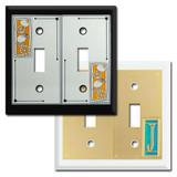 Decorative 2-Toggle Switch Plates