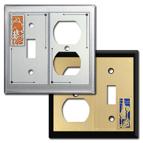decorative toggle outlet art switch plates in cool. Black Bedroom Furniture Sets. Home Design Ideas