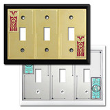 3-Toggle Decorative Switch Plate