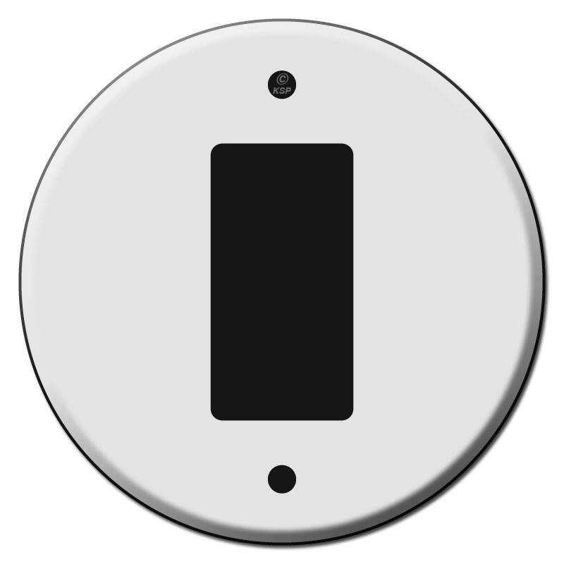 Round Decora Rocker or Ground Fault Outlet Wall Switch Plates - Kyle Switch Plates