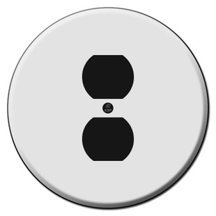 Round Duplex Outlet Wall Switch Plates