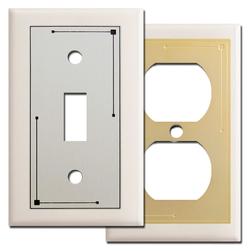 Classic Lines Switch Plate Covers In Light Almond Kyle