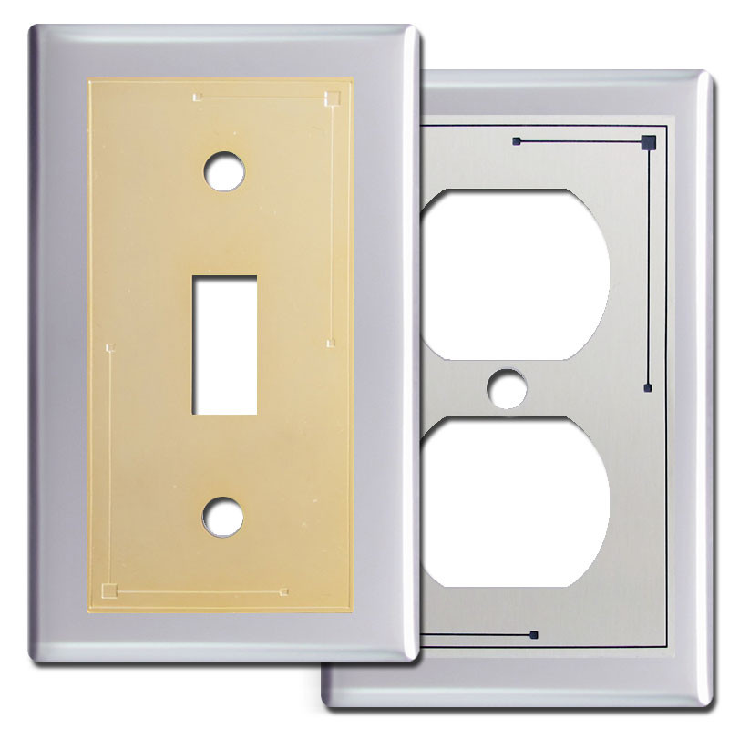 classic lines switch plates in chrome kyle design. Black Bedroom Furniture Sets. Home Design Ideas