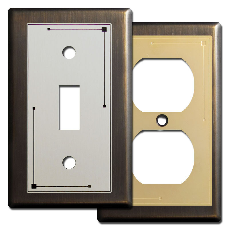 Classic Lines Light Switch Covers In Oiled Bronze Kyle