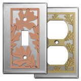 Stainless Steel Autumn Themed Decor with Leaves