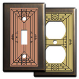 Craftsman Style Light Switch Covers in Bronze