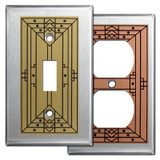Craftsman Style Light Switch Covers in Stainless Steel