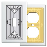 Craftsman Style Light Switch Covers in White