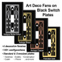 Metal Selections for Black Art Deco Fan Cover Plates