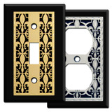 Chrome Fleur de Lis Switch Plates & Outlet Covers