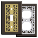 Brown Fleur de Lis Switch Plates & Outlet Covers