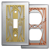 Art Nouveau Switch Plate Covers in Stainless Steel