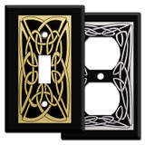 Decorative Irish Switch Plates with Celtic Knots - Black