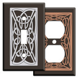 Irish Decor - Brown Switch Plates with Celtic Knot Design