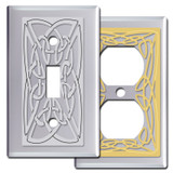 Chrome Celtic Knot Switch Plates & Outlet Covers