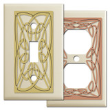 Decorative Irish Switch Plate Covers - Ivory