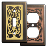 Bronze Irish Switch Plates with Celtic Knots
