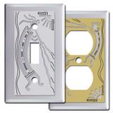 Chrome Kokopelli Southwest Switch Plates