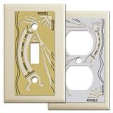 Ivory Kokopelli Southwest Switch Plates
