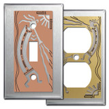 Stainless Steel Southwest Wall Plates with Kokopelli Design